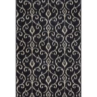"Grand Bazaar Guilia Black/ Ecru Area Rug - 1'8"" x 2'10"""