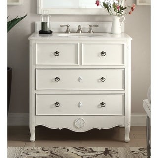 "34"" Benton Collection Antique White Daleville Bathroom Sink Vanity (2 options available)"