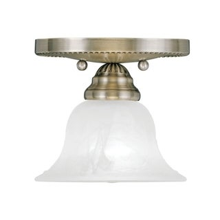 Edgemont Collection Ceiling Mount 1530 White Alabaster Glass