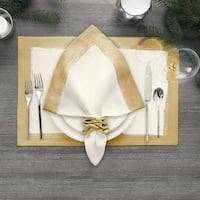 Villeroy and Boch Metallic Brushstroke Set of 4 Napkins
