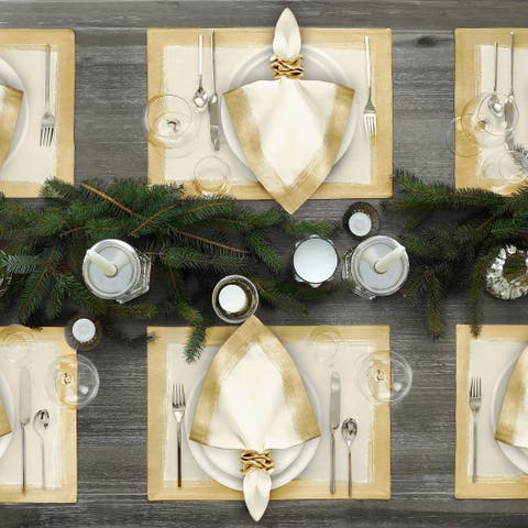 Villeroy and Boch Metallic Brushstroke Set of 4 Placemats