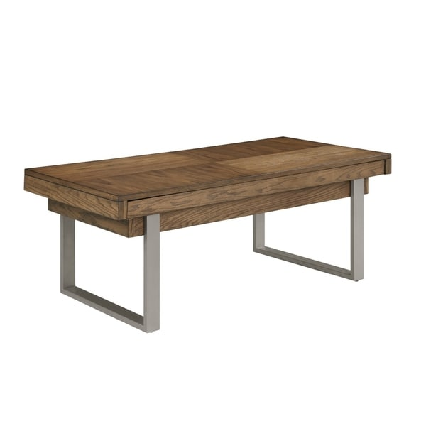 Emerald Home Slider Golden Oak Coffee Table
