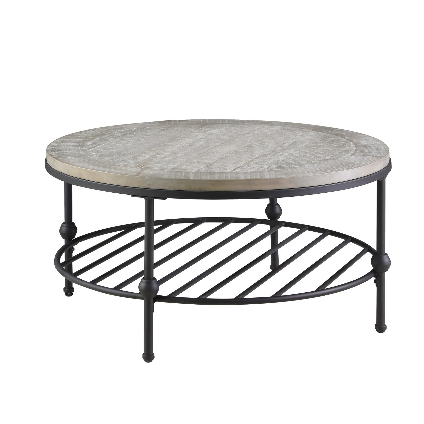 Round Coffee Table Grey 9