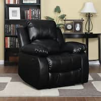 ProLounger Power Wall Hugger Recliner in Black Renu Leather
