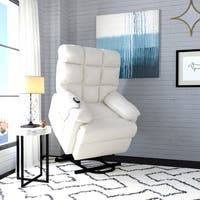 ProLounger Power Recline and Lift Wall Hugger Chair in Cream Renu Leather