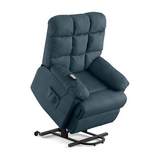 ProLounger Power Recline and Lift Chair in Blue Microfiber