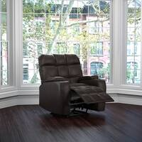 Clay Alder Home Klingle Coffee Brown Renu Leather Storage Recliner Chair