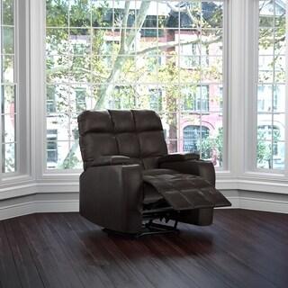 Clay Alder Home Klingle Coffee Brown Renu Leather Storage Recliner Chair