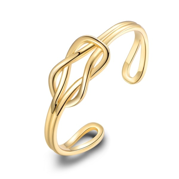 Gold Plated Gold Love Knot Cuff. Opens flyout.