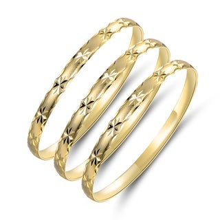 Link to Gold Plated Gold Star Bangle 3pcs Set Similar Items in Bracelets