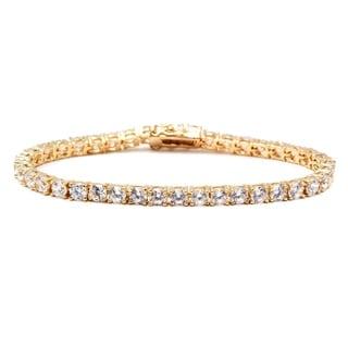 Link to Gold & Crystal Round Tennis Bracelet Made with SWAROVSKI ELEMENTS Similar Items in Bracelets
