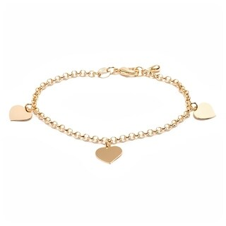 Gold Plated Gold Heart Charm Bracelet