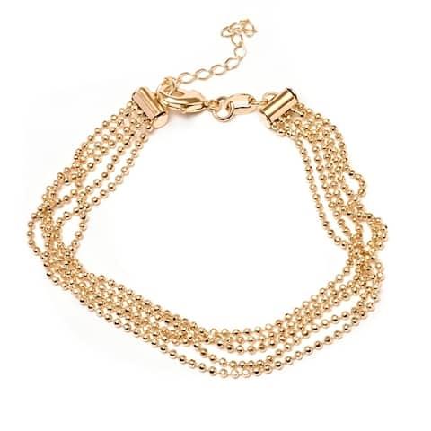 Gold Plated Ball-Link Multi-Strand Bracelet