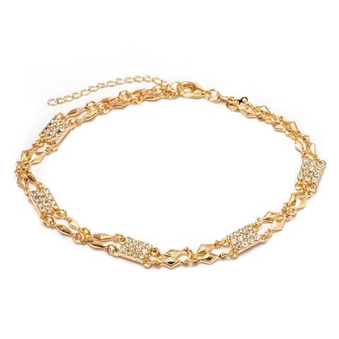 Gold Plated and Swarovski Elements Bracelet