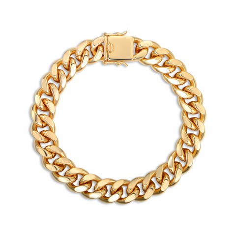Gold Plated 7.7mm Cuban Chain Bracelet