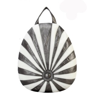 Diophy PU Leather Lollipop Style Backpack (Option: PEWTER)