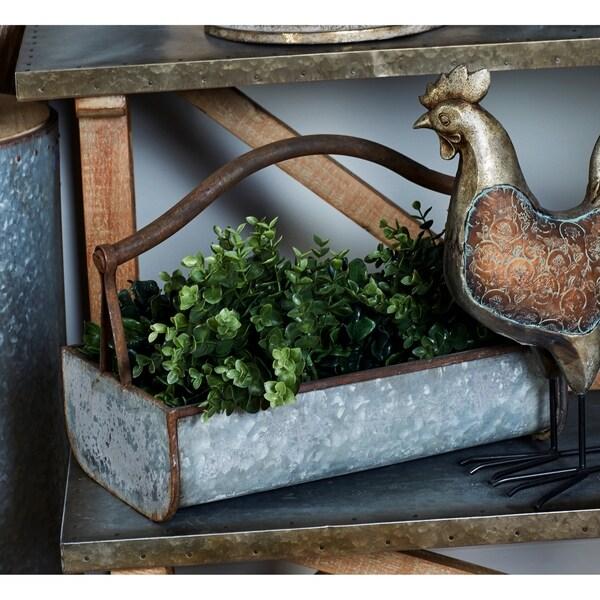 The Gray Barn Jartop Rustic Iron Basket Planters (Set of 2)