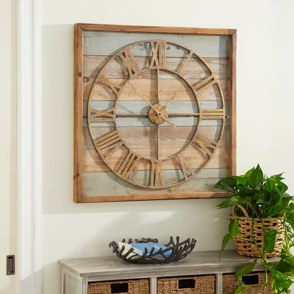 The Gray Barn Jartop Wood Metal 30-inch x 30-inch Wall Clock