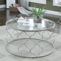 Furniture of America Jenn Contemporary Champagne Coffee Table