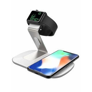 Seneo 2 In 1 Wireless Charger iWatch Charging Stand Fast Wireless Mobile Charger
