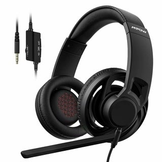 Mpow EG5 Gaming Headset Breathable Over-Ear Gaming Headphones with On-Cable Controls