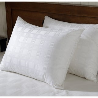 Downluxe Luxury White Down Pillow - Premium Bed Pillows 650 Fill Power 100% Cotton Cover,Soft Pillows for Sleeping (Set of 2) (2 options available)