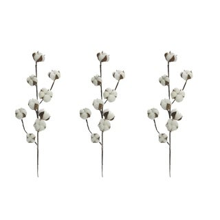 Faux Cotton Spray Home Decoration - Set of 3