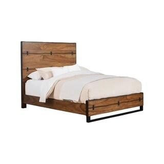 Alpine Furniture Live Edge Panel Bed, Tobacco