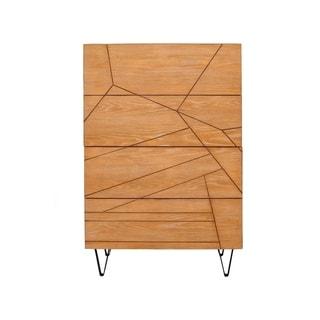 Alpine Furniture Trapezoid 4 Drawer Chest