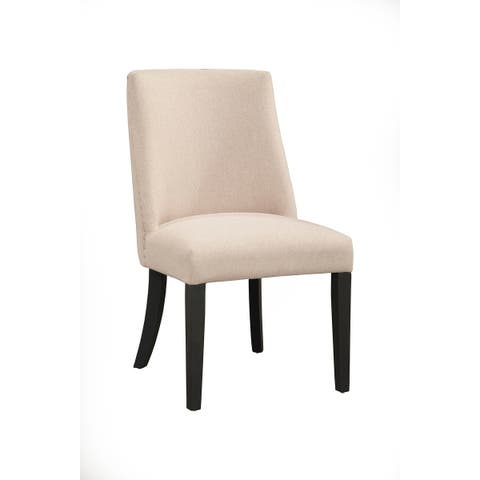 Alpine Furniture Live Edge Upholstered Set of 2 Parson Chairs
