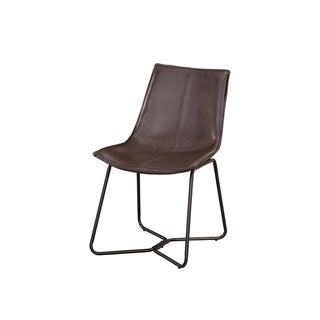 Link to Alpine Furniture Live Edge Set of 2 Bonded Leather Side Chairs Similar Items in Kitchen Appliances