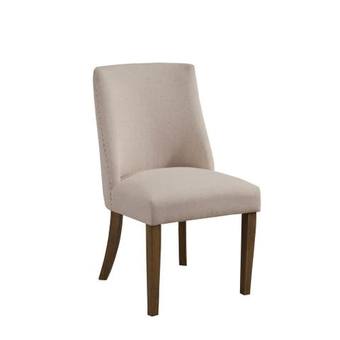 Alpine Furniture Kensington Set of 2 Upholstered Parson Chairs