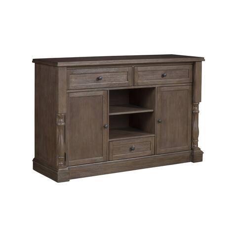 Alpine Furniture Galena Brown Wood Sideboard