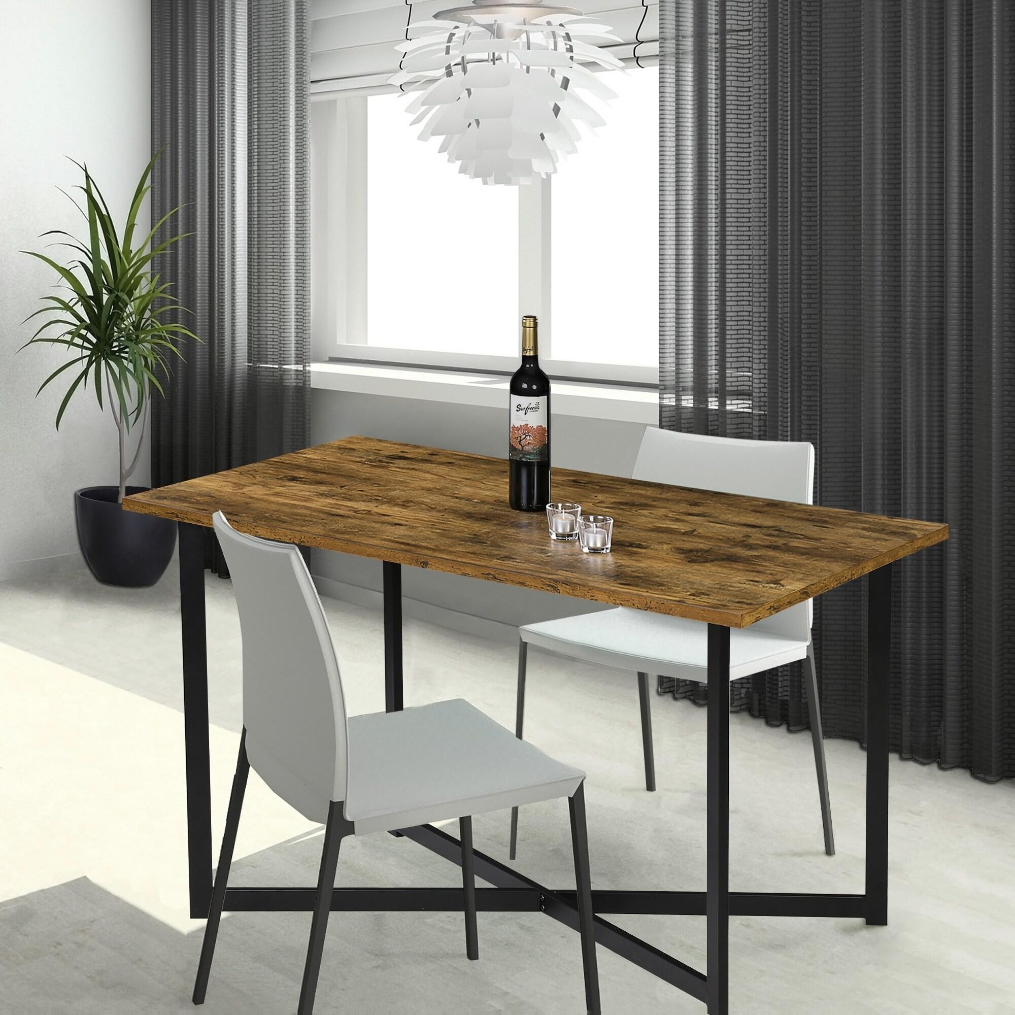 Sleeplanner Natural Wood/Metal Dining Table