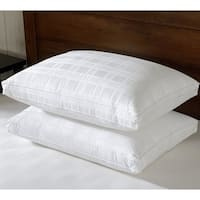 Downluxe Gusseted Down Pillow - Premium Bed Pillows 650 Fill Power with 100% Cotton Cover (Set of 2)