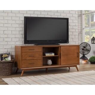 Alpine Furniture Flynn Mahogany Wood Large TV Console