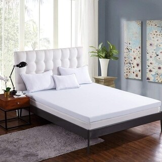 Cr 3-inch Gel-Infused Memory Foam Mattress Topper, AirCell Technology, Soft, Cal King