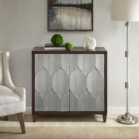 Madison Park Raven Dark Brown/ Silver Accent Cabinet