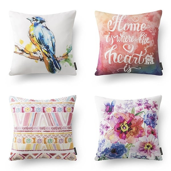 Shop New Peach Color Beautiful Home Series Throw Pillow Cover On