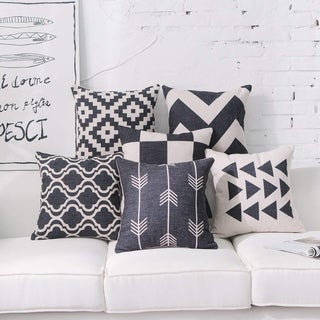 Black Throw Pillow Covers for Couch