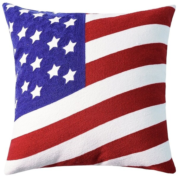 American Flag Decorative Throw Pillow