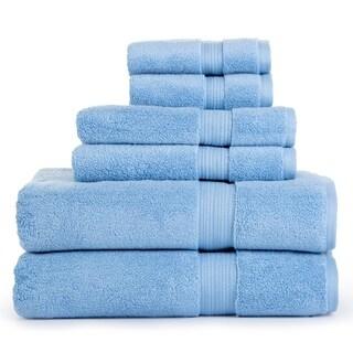 Aerosoft 100% Zero Twist Cotton 6 Piece Towel Set