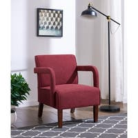 IDS Online Simplicity Style Armed Accent Chair For Living Room Fabric
