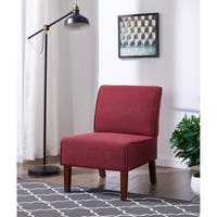 IDS Online Simplicity Style Armless Living Room Accent Chair, Fabric