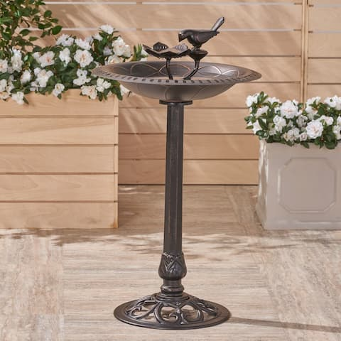 Fairmont Outdoor Aluminum Bird Bath by Christopher Knight Home