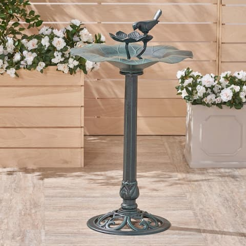 Sandberg Outdoor Aluminum Bird Bath by Christopher Knight Home