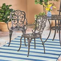 Viga Outdoor Cast Aluminum Dining Chair (Set of 2) by Christopher Knight Home
