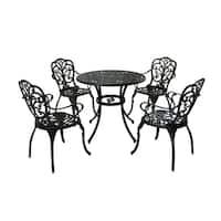 Vigo Outdoor 5 Piece Cast Aluminum Dining Set by Christopher Knight Home