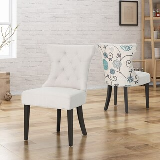 Mircea Traditional Two Toned Fabric Dining Chair by Christopher Knight Home