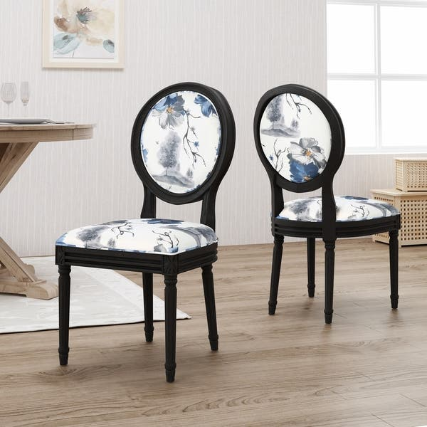 Shop Hiro Traditional Fabric Dining Chairs By Christopher Knight
